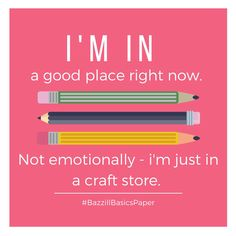 Craft stores support you emotionally, unconditionally Scrapbook Quotes, Scrapbook Pages, Scrapbooking Layouts, Me Quotes, Funny Quotes, Quotable Quotes, Funny Memes, Hilarious, Craft Room Signs