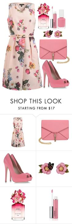 """""""Untitled #4502"""" by natalyasidunova ❤ liked on Polyvore featuring Ted Baker, Olivia Miller, KG Kurt Geiger, Les Néréides, Marc Jacobs, Clinique and Essie"""