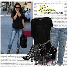 """1170. Celeb Style : Kim Kardashian (15.10.2010)"" by munarina on Polyvore"