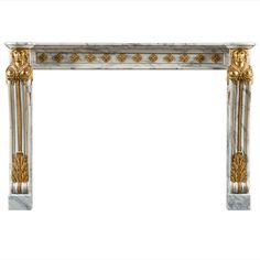 Antique 19th Century, Louis XVI Style Fireplace Mantel | From a unique collection of antique and modern fireplaces and mantels at https://www.1stdibs.com/furniture/building-garden/fireplaces-mantels/