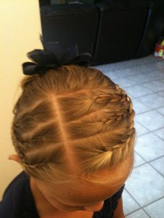 Please don't do your kid's hair like this...it looks like it hurts!