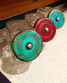 Brighten Your Kitchen! Tonni Braden Designs Spur Rowls For Drawer Pull!