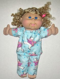 Cabbage Patch Doll Clothes Ice Skating Polar Bear by Dakocreations, $14.50