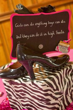 High Heel Centerpiece- Fabulous and Forty signage? | 40th ...