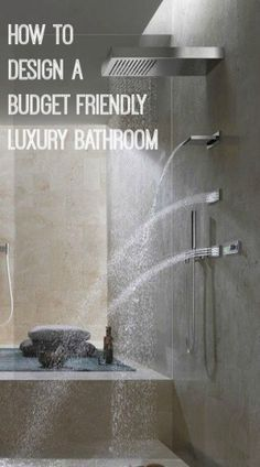 How to design a budget friendly luxury bathroom #homeimprovementideas #bathroomideas