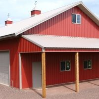 Barn living pole quarter with metal buildings 40x60 pole for Cost of building a house in mn