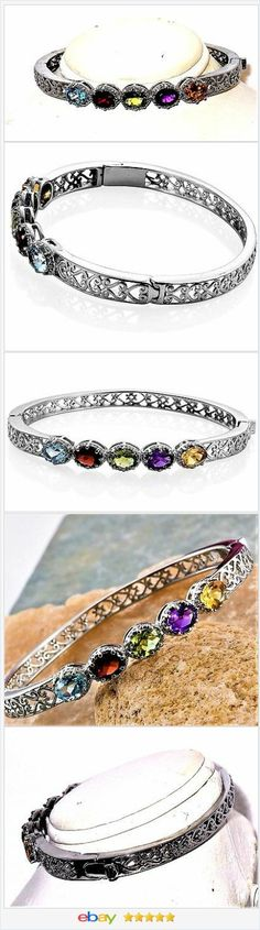 Topaz Garnet Peridot Amethyst Citrine Bangle Bracelet 6.55 carats    eBay  50% OFF #EBAY http://stores.ebay.com/JEWELRY-AND-GIFTS-BY-ALICE-AND-ANN