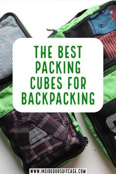 Heading of backpacking and looking to make most of the space you have? Packing cubes for backpacking are a great space saver. They also are great for keeping your organized. Check out the best packing Backpacking For Beginners, Backpacking Tips, Hiking Tips, Best Hiking Food, Best Packing Cubes, Travel Advice, Travel Tips, Travel Info, Budget Travel