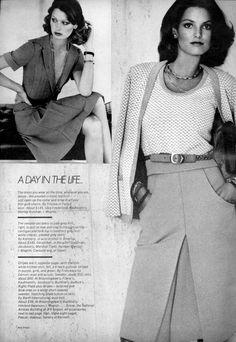 Vogue Editorial November 1973 - Berverly Johnson, Denise Hopkins, Anne Holbrook & Barbara Minty by Bob Stone 70s Fashion, Fashion History, Fashion Photo, Vintage Fashion, Vogue Editorial, Editorial Fashion, Dress For Success, Vintage Love, Working Girls