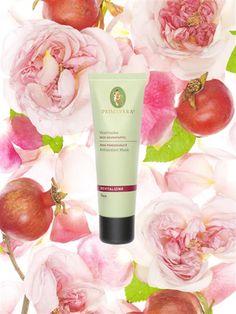 Vitalmaske Rose Granatapfel. Bildet einen hauchzarten Film auf der Haut und festigt.  Gesichtspflege. Face Care. Naturkosmetik. natural cosmetic. #primaveralife  #aromatherapie #primavera