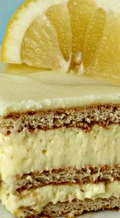 No Bake Lemon Ice Box Cake