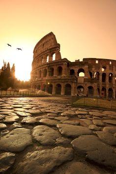 Colosseum and Via Sacra, sunrise, Rome, Italy | Michele Falzone
