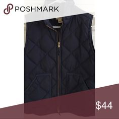 Jcrew puffer vest Jcrew puffer vest in navy size small. Only been worn a few times. great condition! Super preppy and trendy. J. Crew Jackets & Coats Vests