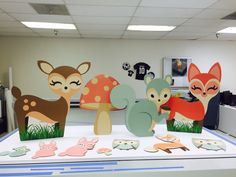 Woodland animal cutouts. Can be used for baby showers, room decor, nursery, props or any occasion.