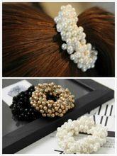 Ventas calientes tejida artesanal perlas pelo elástico diadema de pelo anillo de goma para mujeres accesorios para el cabello adornos cabello envío gratis(China (Mainland))