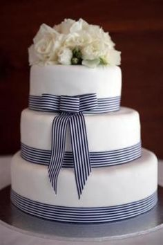 Navy and White ribbon..love this
