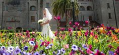 Walking down the aisle? How about walking through a garden to the ceremony altar? | Lightner Museum in St. Augustine, FL