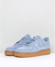 detailed pictures 6e12a ac9d8 Nike Air Force 1 07 Blue Suede With Gum Trainer Sale UK,Fashion and trend