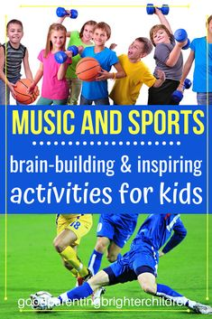 How music and sports combine for a winning combination to help kids practice their instruments. Musicians: get inspired by athletes Music Activities For Kids, Brain Activities, Music For Kids, Kindergarten Activities, Infant Activities, Sports Activities, Multiple Intelligences Activities, Music And The Brain, Praise Songs
