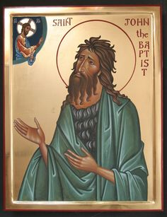 John the Baptist - Aidan Hart Sacred Icons Religious Icons, Religious Art, Greek Icons, Christian Mysticism, Four Gospels, Orthodox Christianity, John The Baptist, Day Book, Orthodox Icons