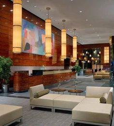 Hilton hotel interior lobby stay in new york design bookmark