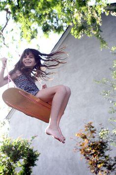 Turn a skateboard deck into a high-flying swing.
