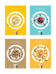 OOB Ice Cream Ads by Peter Radich, via Behance - Summer Advertising - # . Food Graphic Design, Food Poster Design, Creative Poster Design, Ads Creative, Creative Posters, Creative Advertising, Ad Design, Graphic Design Inspiration, Restaurant Advertising