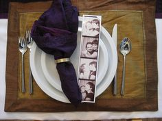 Place Settings with photo strips