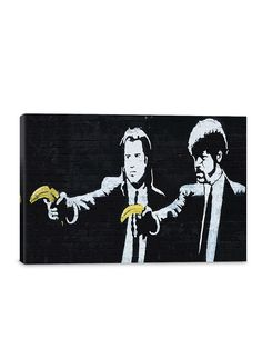 210 x 297mm Banksy Pulp Fiction Banana Home Decor Canvas Print A4 Size