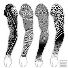 Tattoo Andrey Anich - tattoo's photo In the style Blackwork, Ornamen Geometric Tattoo Sleeve Designs, Geometric Mandala Tattoo, Geometric Tattoos Men, Mandala Tattoo Design, Tribal Tattoos, Tattoo Designs, Geometric Tattoo Shoulder, Hand Tattoos, Simple Forearm Tattoos