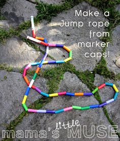 DIY Jump rope: Made from Marker Caps!