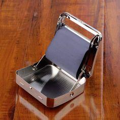 Metal Automatic Cigarette Tobacco Roller Roll Rolling Machine Box Case Tin #Affiliate