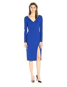 Black Halo Long Sleeve Dress, Cobalt http://bestwomensdresses.womansindex.com/dresses/black-halo-long-sleeve-dress-cobalt/ Black Halo Long Sleeve Dress, Cobalt – Stunning dress in cobalt blue with V-neckline, elegant long sleeves and an alluring faux knee-length wrap skirt. Fully lined with center back hidden zipper