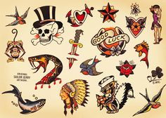 sailor jerry tattoo style - Google Search