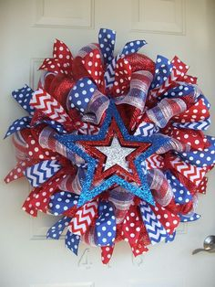 Image result for 4th of july Deco Mesh Wreaths
