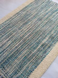 Hand Woven Placemat Ocean Collection by bristolloomsri on Etsy.