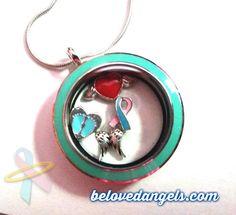 Angel Journey lockets of love in blue & Pink Lockets