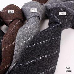 hot sell stripe wool ties HT6054