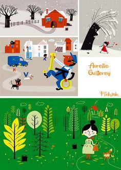 Aurelie Guillerey and Akemi Tezuka Childrens' Illustrators