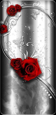 By Artist Unknown. Rose Flower Wallpaper, Butterfly Wallpaper, Colorful Wallpaper, Designer Wallpaper, Wallpaper Backgrounds, Iphone Wallpaper, Luxury Wallpaper, Wallpaper For Your Phone, Cellphone Wallpaper