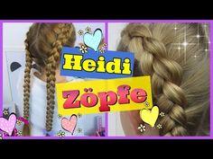 ♥ HEIDI ZÖPFE nach außen geflochten ♥ Holländische Zöpfe ♥ Flechtfrisur für Mädchen - YouTube