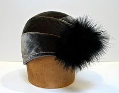 Cloche Hat 1920s Cloche Silk Velvet Cloche