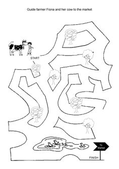 free online printable kids games cow maze - Online Painting Games For 5 Year Olds