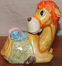 Vintage Camel with Cat Coin Bank by MoonbearConnections on Etsy