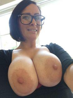 Mom big tits glasses mature
