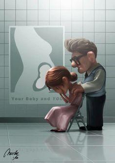 Onvruchtbaarheid komt overal voor, zelfs in tekenfilms. Deze afbeelding is uit de Pixar-film UP. Een echtpaar krijgt te horen dat ze geen kinderen kunnen krijgen. Ondanks dat het een tekenfilm is, vond ik het een absoluut kippenvelmoment...