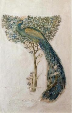 A Peacock by Edward Burne-Jones