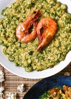 Caruru is a Brazilian food made from okra, onion, shrimp, palm oil and toasted nuts (peanuts and/or cashews). Bahia in Brazil.