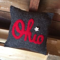 Ohio State University, Buckeyes, Throw Pillows, Quilts, Projects, Handmade, Crafts, Gears, Design