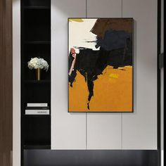 Abstract Acrylic Painting On Canvas original orange black and white Extra Large Wall Pictures Art Decor home decor cuadros abstractos Large Painting, Oil Painting Abstract, Acrylic Painting Canvas, Painting Frames, Art Original, Original Paintings, Frames On Wall, Framed Wall Art, Large Wall Pictures